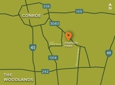Granger Pines area map   Conroe, TX   Century Communities