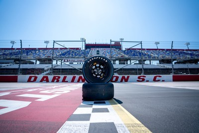 The Goodyear 400 will mark the company's first race entitlement in North America. Goodyear has a rich history at Darlington Raceway as the company conducted its first official NASCAR tire tests at the track in 1954 and earned its first NASCAR victory in the 1959 Southern 500®. (NASCAR images for Goodyear)