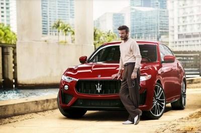 Maserati And David Beckham (pictured with 2021 Maserati Levante Trofeo)