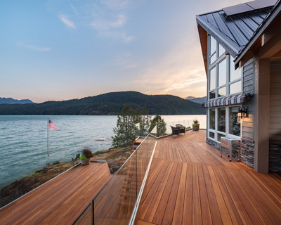 The expansive, three-level redwood deck on Harrison Lake, B.C. was awarded first place in three of the four categories entered in the annual NADRA 2020 National+ Deck Competition.