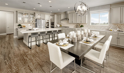 Richmond American's single-story Melody floor plan is modeled at Abrams Pointe in Winchester, Virginia.