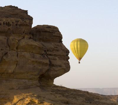 Hot air balloon entertainment activity in AlUla (PRNewsfoto/Kingdom of Saudi Arabia)