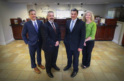 Executive Management Team, from left: Peter Sackett, Vice President and Chief Credit Officer Mike Jasper, Chief Financial Officer Scott Steele, President and CEO Sandra Craft, Vice President of Commercial Banking