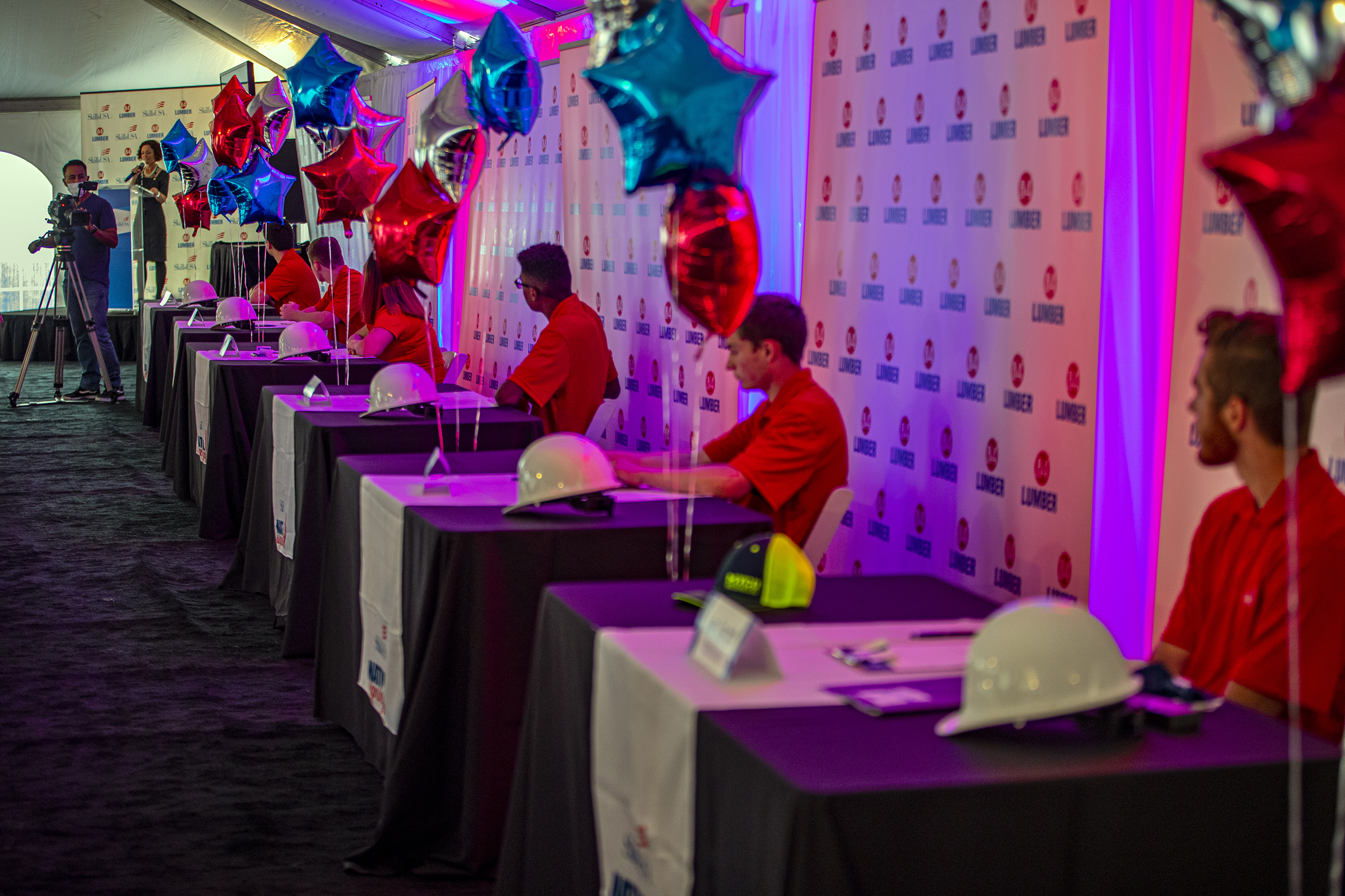 Students get ready to sign at SkillsUSA-84 Lumber National Signing Day Event-Pittsburgh