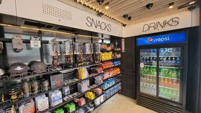 Indy Express Shop - AiFi NanoStore inside look at snacks and drinks