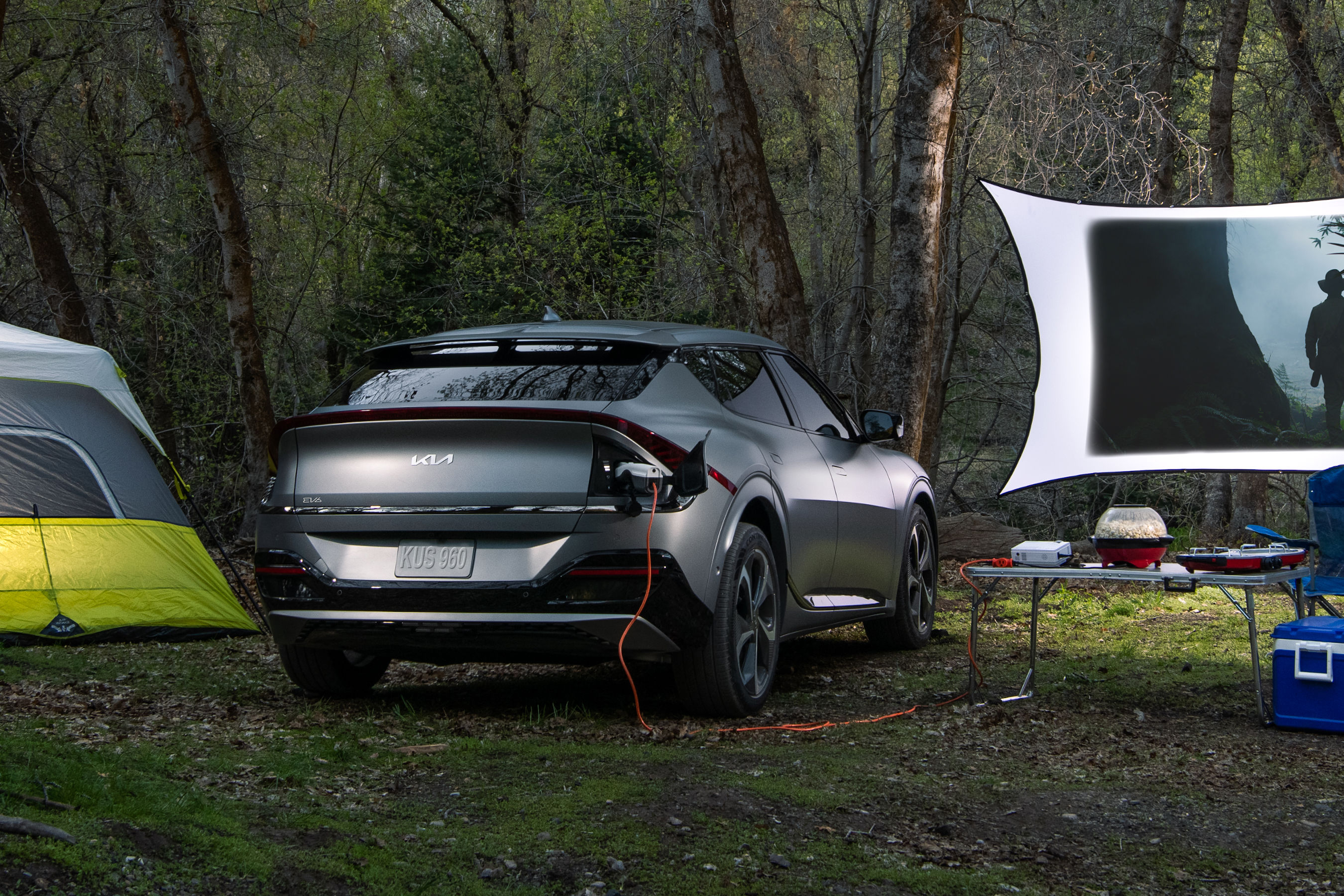 Innovative Vehicle-to-Load (V2L) function turns Kia's EV6 into a mobile power source for computers, camping, tailgating, and back-up power at home.