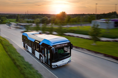 Solaris Urbino 12 hydrogen bus, powered by a Ballard fuel cell module (CNW Group/Ballard Power Systems Inc.)