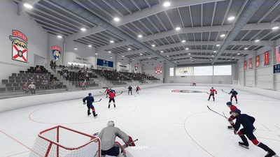 ROSSETTI rendering of Baptist Health IcePlex Ice Facility