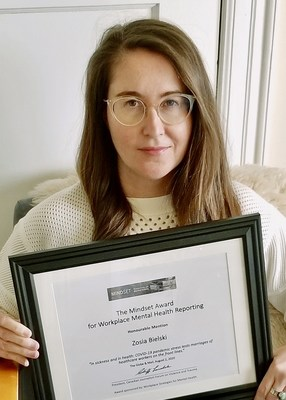 Zosia Bielski (CNW Group/Canadian Journalism Forum on Violence and Trauma)