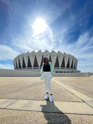 Ashley Dawson at Hampton Coliseum during Hibbett Sports Small-Town Sneakerhead series. Photo credit: Sebastian Jimenez
