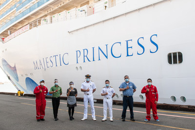 Majestic Princess Crew Members Receive COVID-19 Vaccines at The Port of Los Angeles World Cruise Center