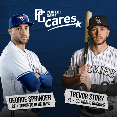 Former Perfect Game alums and current Major League Baseball All-Star players George Springer and Trevor Story jointly contribute $150,000 to Perfect Game Cares Foundation to help underprivileged children who need financial assistance to play baseball and softball in their communities.