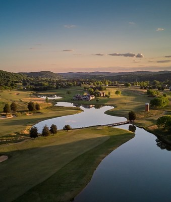 View of Tennessee National looking towards the mountains.