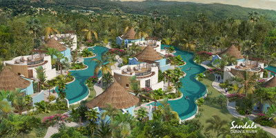 A peek inside the cutting-edge design at Sandals Dunn's River, which will boast 12 Swim-up Rondoval™ Suites with many featuring luxurious rooftop terraces - the first of their kind