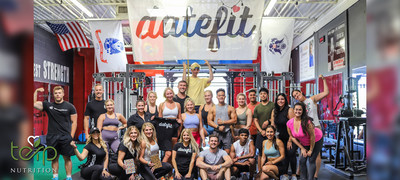 Attendees of the first TerpNutrition x DateFit social event at Los Campeones in Tempe, Arizona.