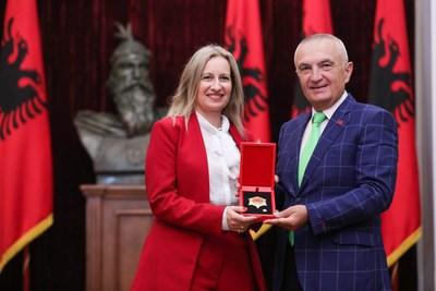 AJC Jerusalem Director Avital Leibovich and Albania President Ilir Meta