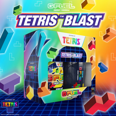 G FUEL — The Official Energy Drink of Esports® — has teamed up with The Tetris Company, Inc. to drop a Tetrimino of deliciousness: Tetris™ Blast. G FUEL Tetris Blast is available to buy at gfuel.com through June 7th while supplies last.