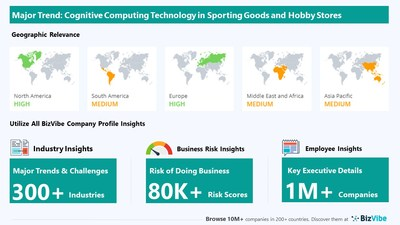 Snapshot of key trend impacting BizVibe's sporting goods and hobby stores industry group.
