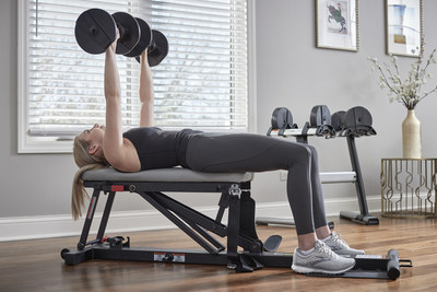 The Glute Drive Plus converts into a flat bench for added functionality to any home gym space.