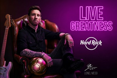 Hard Rock International partners with soccer sensation, Lionel Messi to celebrate its 50th anniversary.