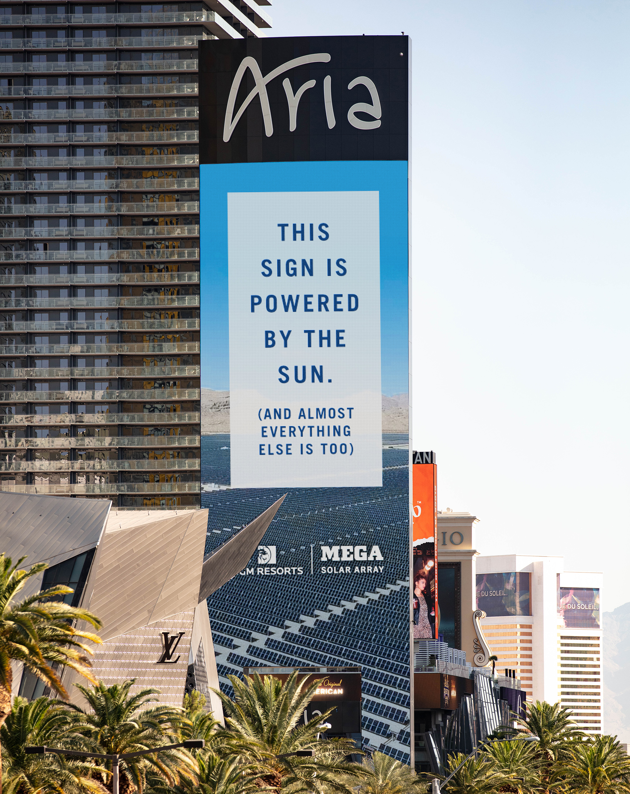 Powered by the Sun: The solar array's clean energy now produces up to 90% of MGM Resorts' Las Vegas daytime power needs at its 13 Strip properties.