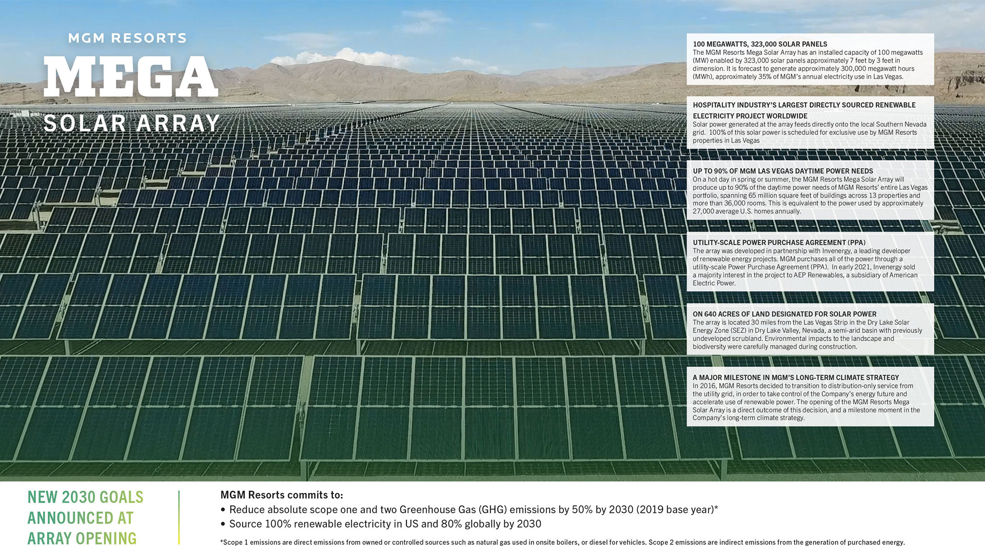 Learn more about MGM Resorts' 100MW solar array.