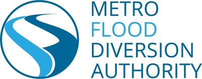Logo for the Metro Flood Diversion Authority, which is responsible for managing all aspects of the FM (Fargo-Moorhead) Diversion project, through its planned completion by 2028 with reliable flood protection in place by the spring of 2027.