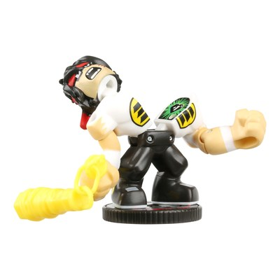 Innovative toy maker Moose Toys' new Akedo ̶ Ultimate Arcade Warriors micro battling figures pack a big punch. Ready to battle? Move the figures back and forth in their controllers, and when the Akedo fighter lands the right blow with its split strike action it will literally split its Akedo opponent in half. Players' skill and strategy increase as they move through the collection of 39 unique warriors, each with different ways to battle.