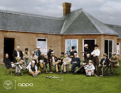 All England Croquet Club (Photo: AELTC) The All England Croquet Club members are pictured outside the Wimbledon pavilion in 1870. In 1877, after the first tennis tournament, the club changed its name to The All England Croquet and Lawn Tennis Club. Using one billion colours, the image, originally in black and white, brings new life to the roots of the much-loved sport. Launched today to celebrate the return of Wimbledon. The Courting the Colour collection restores the emotion of seven iconic moments from tennis history, bringing the excitement and passion back to the sport. View the collection, here: https://events.oppo.com/en/oppo-and-tennis/#awakencolour
