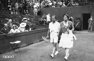 Helen Jacobs (Photo: AFP via Getty Images) Helen Jacobs is pictured at Roland Garros where, in 1934 she changed the face of fashion, being the first woman to wear shorts on the court instead of a dress. Reimagined using one billion colours, in partnership with Getty Images, the image is part of OPPO's Courting the Colour campaign. Launched today to celebrate the return of Wimbledon, the collection restores the emotion of seven iconic moments from tennis history, bringing the excitement and passion back to the sport for fans around the world. View the Courting the Colour collection, here: https://events.oppo.com/en/oppo-and-tennis/#awakencolour