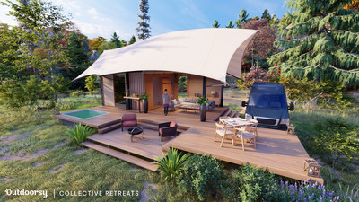 The partnership will kick off on June 15 with the first elevated camping experience offered to Outdoorsy travelers staying at a Collective Retreats' property on Governors Island, New York.