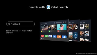 Petal Search on HUAWEI Vision