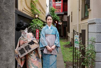 Mai Odashima, owner of kimono store KIEN