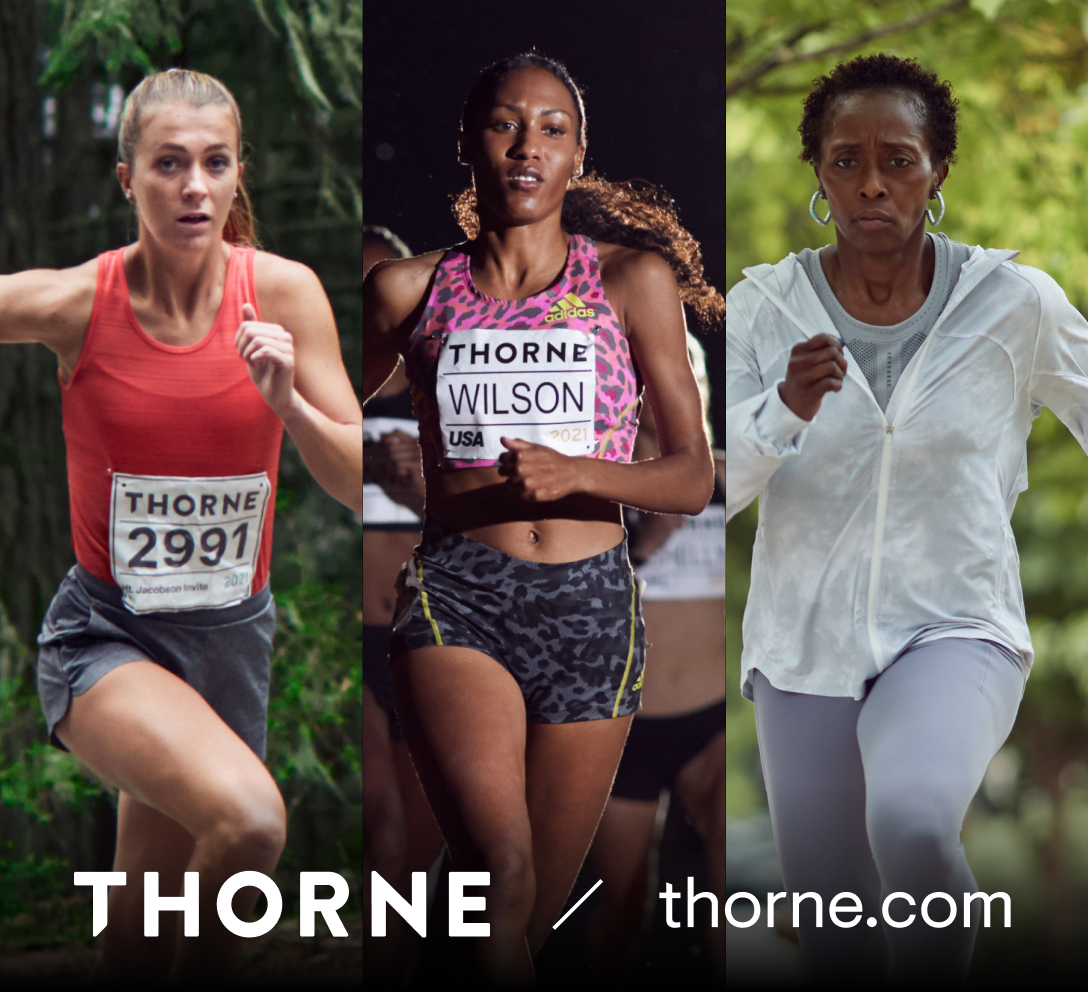 Katie Rainsberger, Ajee' Wilson and Gail Devers partner with Thorne to launch Better Health Campaign.