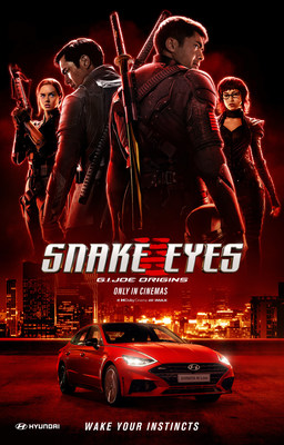 Hyundai Motor Company's Sonata N Line sport sedan revs up the new Paramount Pictures' action film Snake Eyes: G.I. Joe Origins, which makes its global debut on July 23, 2021.