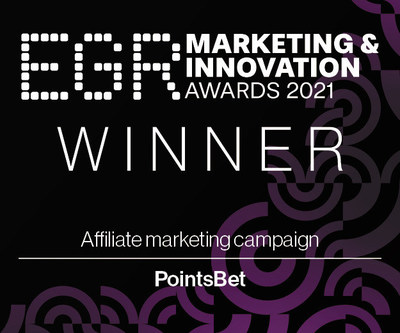 """PointsBet wins """"Affiliate Marketing Campaign"""" honors at EGR Marketing & Innovation Awards 2021"""