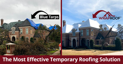 Blue Tarps are no longer your only option. WrapRoof is installed with a 1 year leak-free warranty.